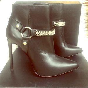 YSL High heel leather booties